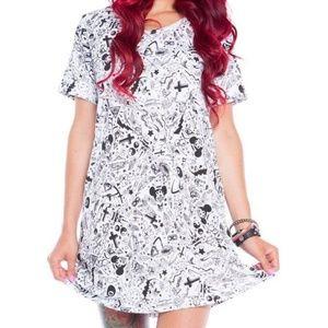 Iron Fist Taggers T-Shirt Dress Size: